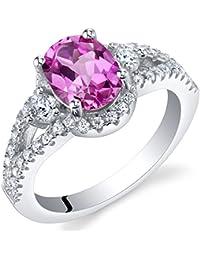 Sterling Silver Keepsake Ring Sizes 5 to 9 in various gemstones