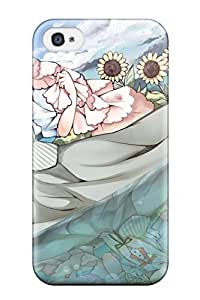 For Iphone Case, High Quality Original Animal Blush Browndress Hat Mottida Original Ribbons Shortsunflower For Iphone 4/4s Cover Cases