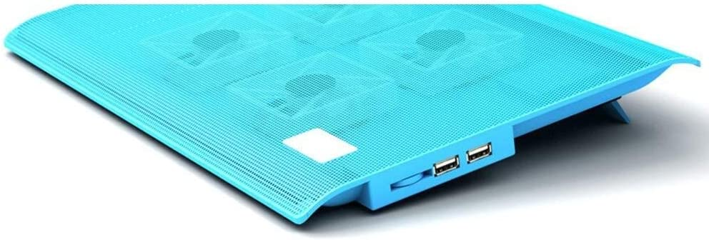 Color : A USB Ports 2 Height Options Wyyggnb Laptop Cooler Notebook Cooling Pad,10-17 Ultra-Portable Laptop Cooler Pad Cooler with 4 Ultra-Quiet Fans