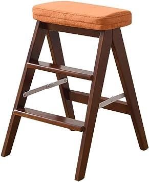 WLG Paso de Heces para Adultos de Madera Escalera Multifunción de Oficina Biblioteca de Cocina Plegable Paso 3 Mini Escalera Cojín Extraíble / K1 / k1: Amazon.es: Bricolaje y herramientas