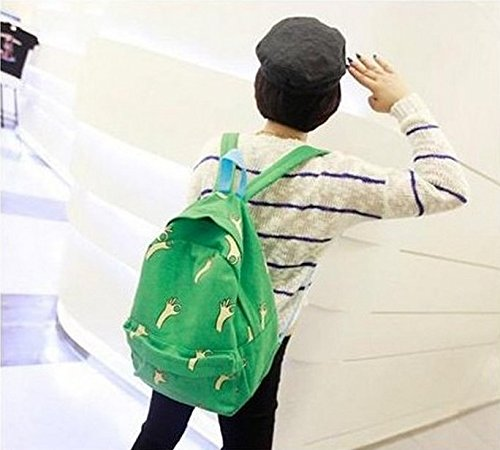 FULLA2116tela OK gesti zaino borsa a tracolla verde