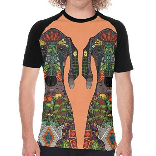Great Dane Love Orange Flowers Men's Short Sleeve T-Shirt