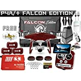 DJI Phantom 4 Advanced + Plus Falcon Edition Kit w/Firebridge Long Range System Nanuk 950 Wheeled Case 3 Batteries, Thor Charger, Carbon Fiber Props & Guards Phantom 4 Adv Lens Filters 64GB Card