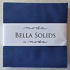 Nautical Blue Moda Bella Solids Charm Pack By Moda Fabrics; 42-5 Quilt Squares