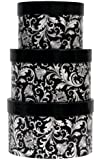 Premier Packaging AMZN-41153 3-Piece Nested Decorative Box Set, Damask