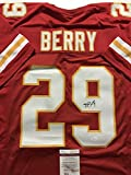 Autographed/Signed Eric Berry Kansas City Chiefs Red Football Jersey JSA COA