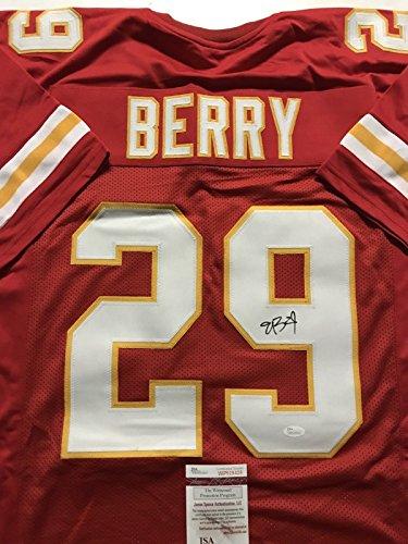 Autographed/Signed Eric Berry Kansas City Chiefs Red Football Jersey JSA COA – DiZiSports Store