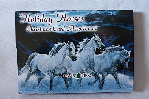 Leanin' Tree Holiday Horses Christmas Card Assortment 20 Cards & 22 Envelopes (Photo Cards Cowboy Christmas)