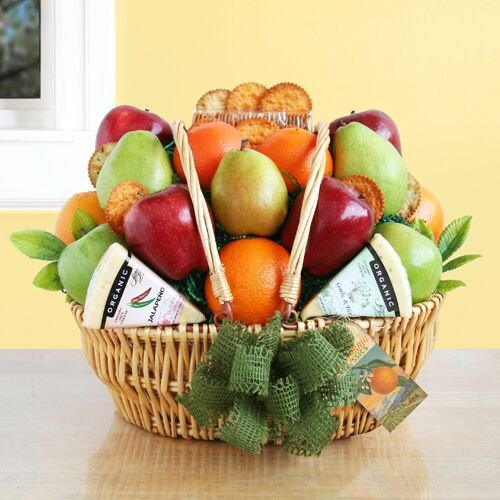 Natural Organic Fruit & Cheese Gift Basket by Givens & Company