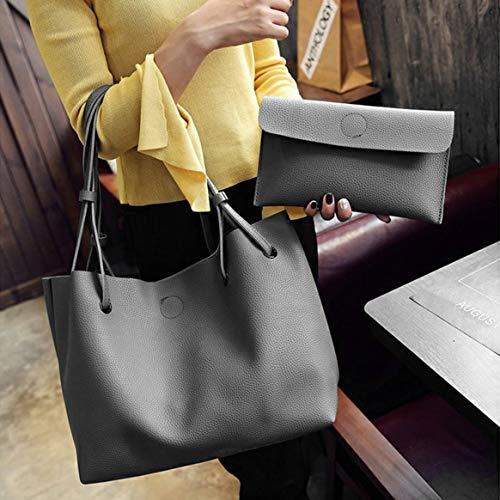 2 Mode PCS Sac PU Solide Design À SET Femme Casual Couleur Tout Dames À À Sac Porter Fourre En Bandoulière Main Femmes Cuir La Dasily r7rwIAq