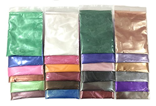 Soap Dye - Mica Powder Pigments for Bath Bomb - Soap Making Colorant - Candle Making, Eye Shadow, Blush, Nail Art, Resin Jewelry, Artist, Craft Projects (24 Colors (0.21 oz Each))
