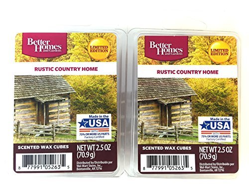 Better Homes and Gardens Rustic Country Home Scented Wax Cubes (2.5 Oz., Pack of 2)