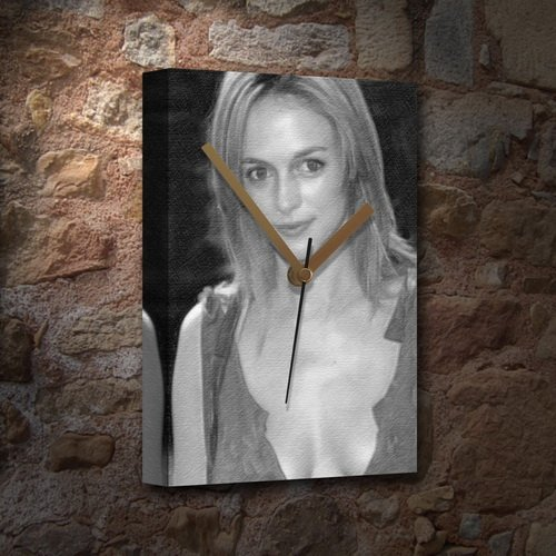 Seasons Heather Graham - Canvas Clock (A4 - Signed by The Artist) #js006