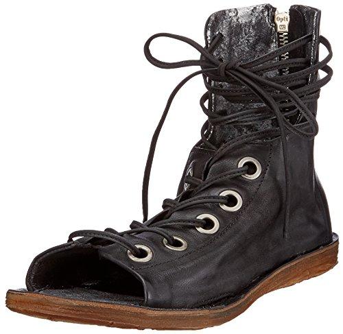 A.S.98 Ramos, Stivali Donna Mehrfarbig (Black Grey Black 0001)