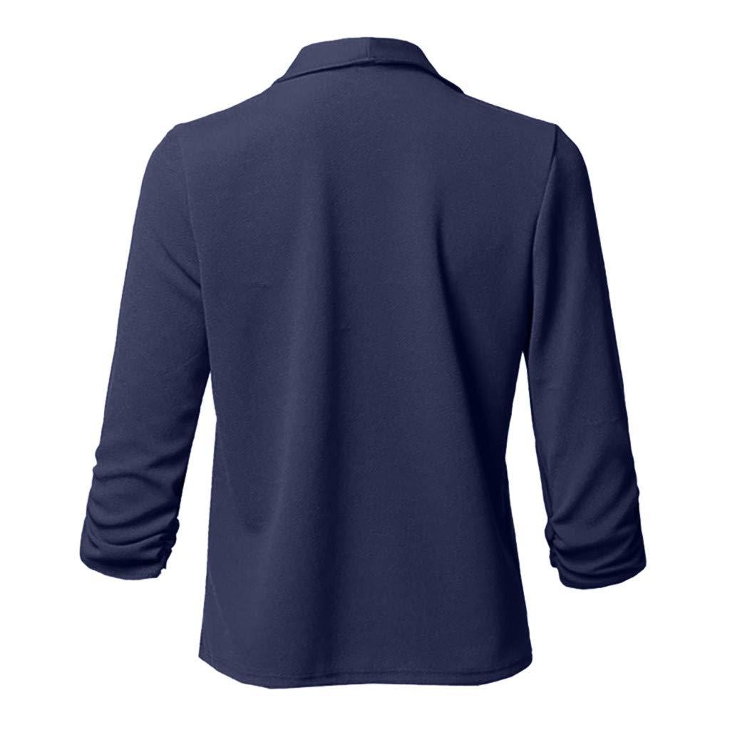 Wenini Womens Solid Open Front Jacket Coat Cardigan Long Sleeve Blazer Lightweight Casual Jacket Coat