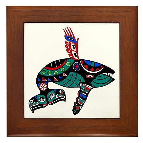 Whale Framed Tile - CafePress Tribute Framed Tile, Decorative Tile Wall Hanging