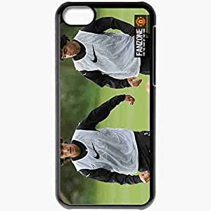 Personalized iPhone 5C Cell phone Case/Cover Skin 6 Manchester United Football Black