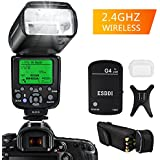 ESDDI Flash Speedlite for Nikon, i-TTL 1/8000 HSS LCD Display Wireless Flash Speedlite GN58 2.4G Wireless Radio Master Slave, Professional Flash Kit with Wireless Flash Trigger for Nikon DSLR Cameras