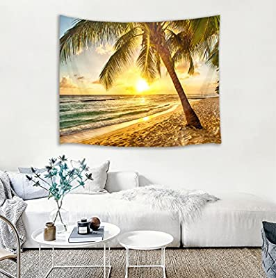 HVEST Animal Tapestry Spring Scenery Wall Hanging Ocean Tapestries Bohemian Wall Decorations African Woman Backdrop for Birthday Party Wall Decor