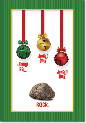 NobleWorks 'Jingle Bell Rock': Hilarious Christmas Greeting Card with Envelope (5954)