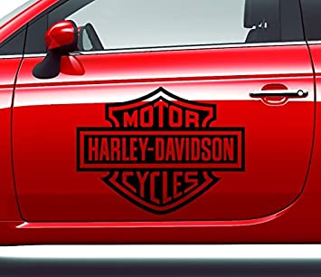 Aufkleber Harley Davidson Logo Motor Cycles Grosse S Amazon De Auto