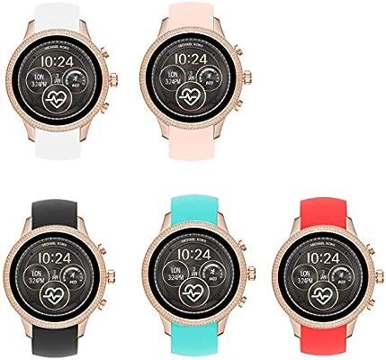 LvBU - Correa de Repuesto de Silicona para Reloj Deportivo Michael Kors Runway Watch