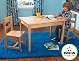 KidKraft 26681 Rectangle Table and 2 Chair Set, Natural