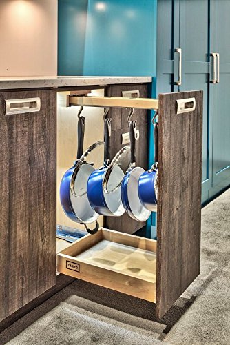 22'' Glideware Cookware Organizer with 7 Hooks & Soft-close Feature in Maple by Wood Technology (Image #6)