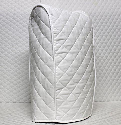 Ninja blender Cover - Quilted Double Faced Cotton, White - Quilted Blender Appliance Cover