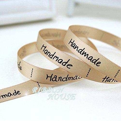 "FunnyPicker (5 Yards/Lot) 3/8"" (10Mm) Champagne Printed Handmade Ribbon Colored Romantic Ribbon Gift Wrap Ribbons"