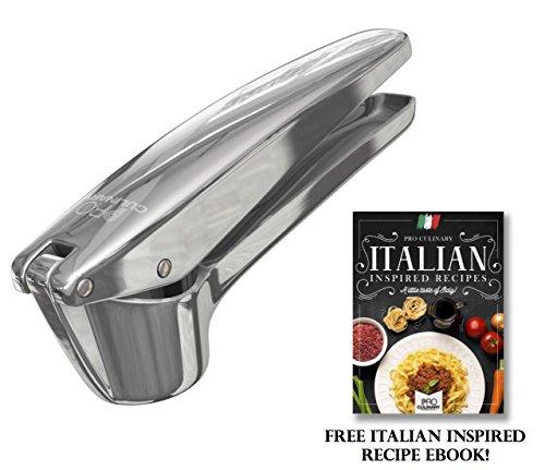 Pro Culinary Garlic Press - Professional Quality Garlic and