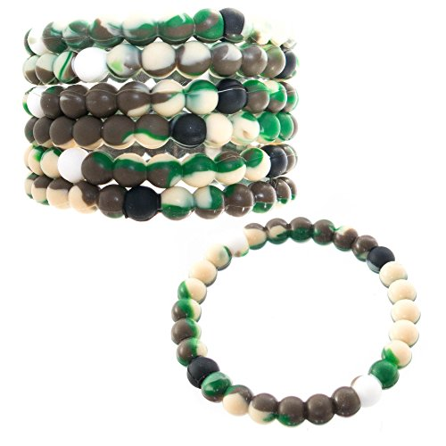FROG SAC Bracelets for Kids Girls Boys Teens - Tie-Dye Silicone Beaded Friendship Fortune Bracelet Set - Great Party Favors, Stocking Stuffers and Fillers, Valentine Prizes for $<!--$10.95-->