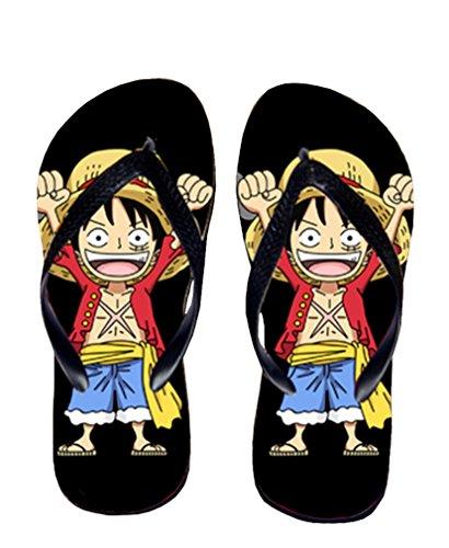 Bromeo One Piece Anime Unisex Flip Flops Chanclas 368