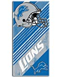 Detroit Lions NFL Fiber Reactive Beach Towel (Diagonal Series) (28in x 58in)