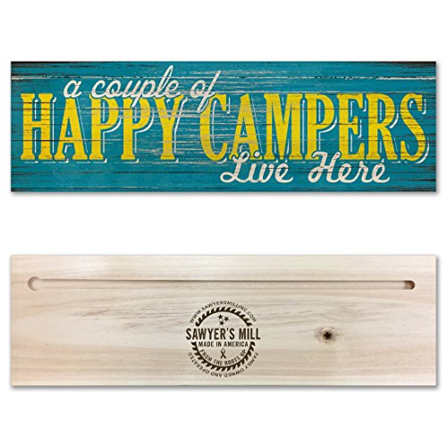 Wood Sign made our list of camping gifts couples will love and great gifts for couples who camp