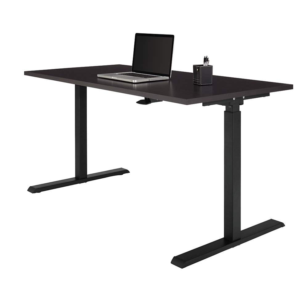 "Realspace Magellan 60""W Pneumatic Sit-Stand Height-Adjustable Desk, Espresso"