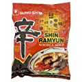 Nongshim Shin Ramyun Noodle Soup Hot & Spicy 120g. - Pack of 5
