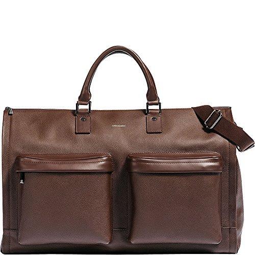 Hook & Albert Leather Garment Weekender Bag (Brown)