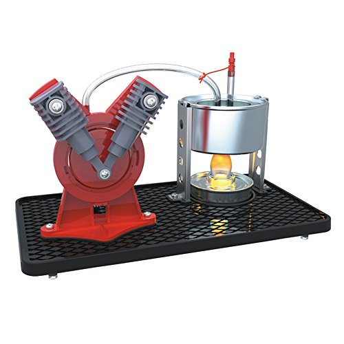 V-Twin V Type Mini Hot Live Steam Engine Cylinder Model Education Toy Kits