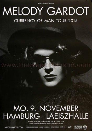 Melody Gardot - Currency Of Men Hh 2015 - Concert Poster Plakat