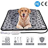 wangstar X-Large Pet Heating Pad & Pet Heated Blanket Warm Pet Heat Mat for Dogs Cats with Chew Resistant Cord