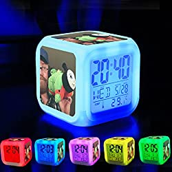 Alarm Clock 7 LED Color Changing Wake Up Bedroom with Data and Temperature Display (Changable Color) Customize the pattern-516.Thomas the Tank Engine Pillow Pet looks like a Big, Fat