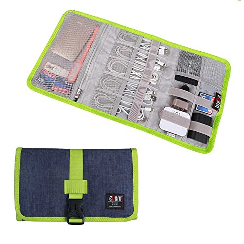Travel Organizer, BUBM Cable Bag/USB Drive Shuttle Case/Electronics Accessory Organizer-Blue