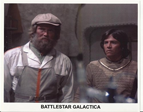 Battlestar Galactica Press Kit Promo Richard Hatch as Apollo w/ Man 8 x 10 Photo