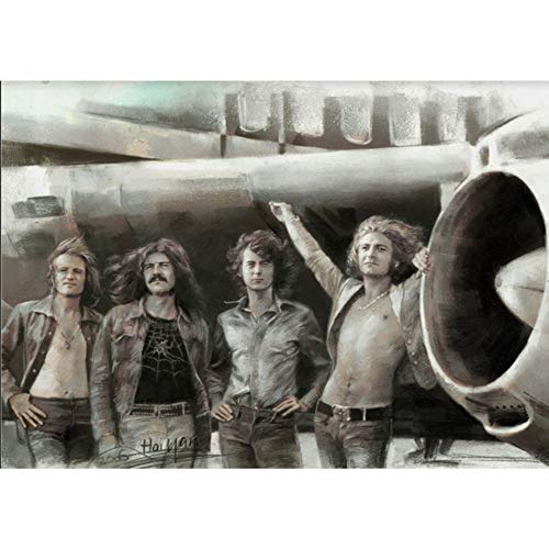 Led Zeppelin Classic Rock Band 3D Poster Wall Art Decor Print | 11.8 x 15.7 | Lenticular Posters & Pictures | Memorabilia Gifts for Guys & Girls Bedroom | Jimmy ()
