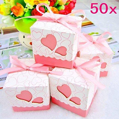 Finestyles - 50 cajas de regalo para boda, cumpleaños ...