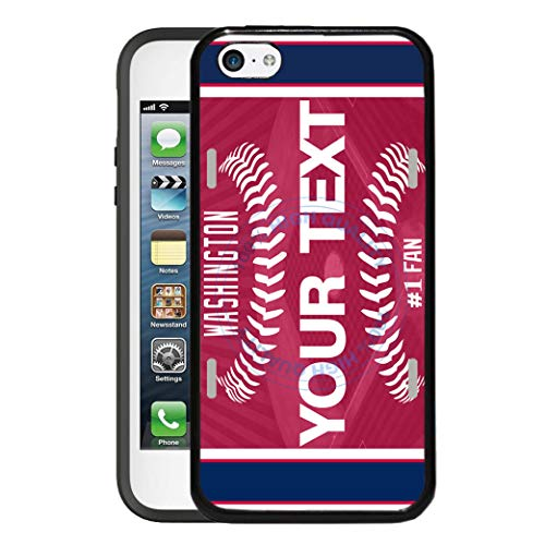 (BRGiftShop Customize Your Own Baseball Team Washington Rubber Phone Case for Apple iPod Touch 5th & 6th Generation)