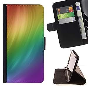 Momo Phone Case / Flip Funda de Cuero Case Cover - Remolino del arco iris - Samsung Galaxy Note 3 III