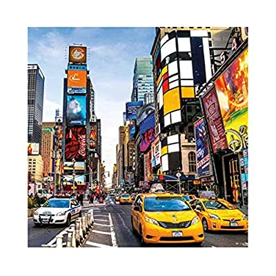 CUEYU New York Traffic Landscape Jigsaw Puzzles 1000 Pieces for Adults Children's Puzzle Toy - Large Puzzle Game Toys Gift for Kids Adult, 70x50cm: Toys & Games