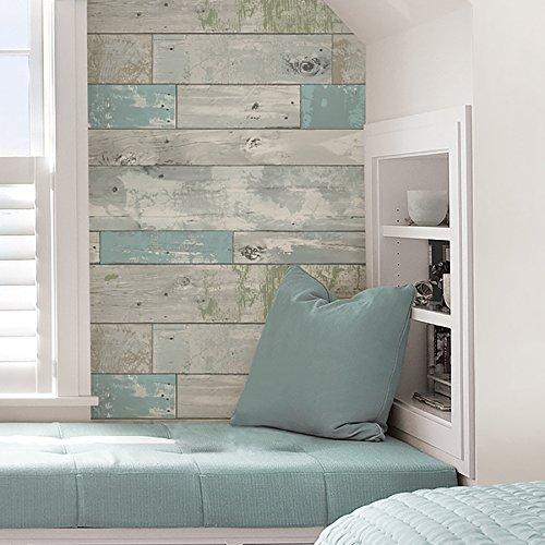 NuWallpaper NU1647 Beachwood Peel and Stick Wallpaper New ...